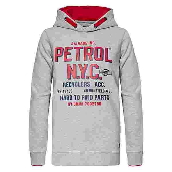 Petrol Industries Hoodie Kinder Light Grey Melee