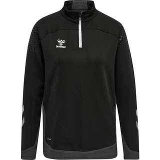 hummel hmlLEAD WOMAN HALF ZIP Sweatshirt Damen BLACK