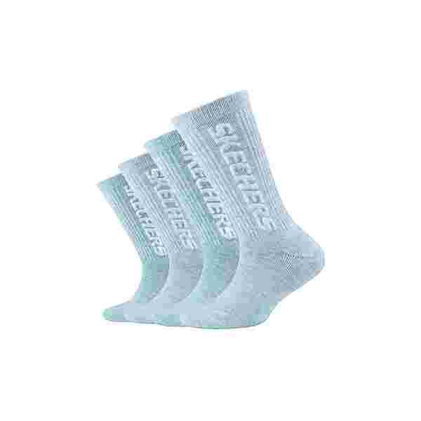 Skechers Sneakersocken pastel turquoise mouliné