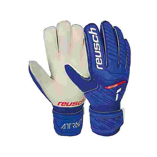 Reusch Attrakt Grip Junior Torwarthandschuhe 4011 deep blue / white