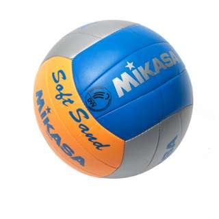 Mikasa SoftSand Beachvolleyball grau/orange/blau