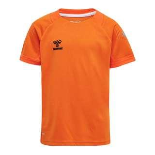 hummel hmlLEAD S/S POLY JERSEY KIDS T-Shirt Kinder ORANGE TIGER