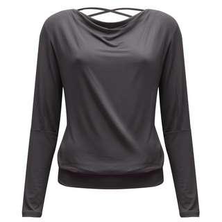 YOGISTAR.COM Longshirt Damen grey