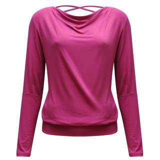 YOGISTAR.COM Longshirt Damen pink