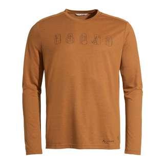 VAUDE Men's Rosemoor LS T-Shirt II T-Shirt Herren silt brown