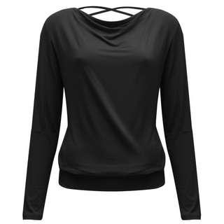 YOGISTAR.COM Longshirt Damen black