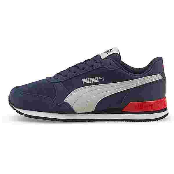 PUMA ST RUNNER V2 Sneaker Kinder peacoat-gray-high risk red
