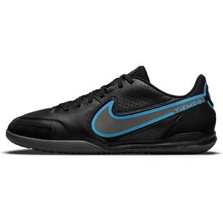 Nike Tiempo LEGEND 9 ACADEMY IC Fußballschuhe Herren black-black-iron grey-univ blue