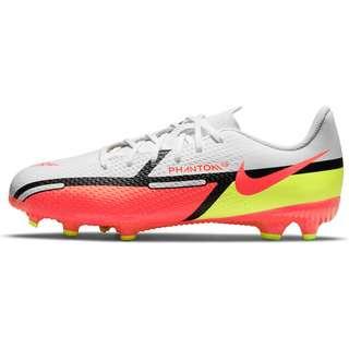 Nike JR PHANTOM GT2 ACADEMY FG/MG Fußballschuhe Kinder white-brt crimson-volt-black