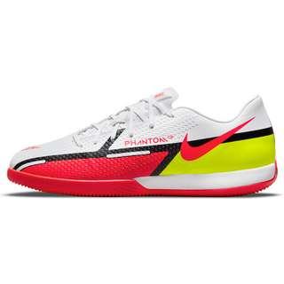 Nike PHANTOM GT2 ACADEMY IC Fußballschuhe white-brt crimson-volt-black