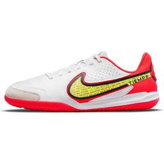 Nike JR Tiempo LEGEND 9 ACADEMY IC Fußballschuhe Kinder white-volt-brt crimson-black