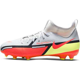 Nike JR PHANTOM GT2 ACADEMY DF FGMG Fußballschuhe Kinder white-brt crimson-volt-black