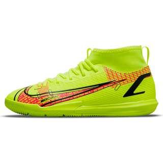 Nike JR Mercurial SUPERFLY 8 ACADEMY IC Fußballschuhe Kinder volt-black-brt crimson