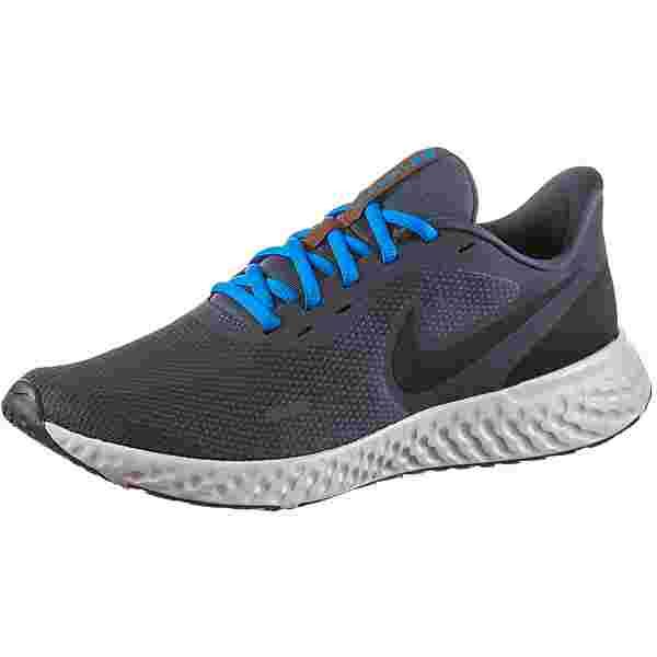 Nike REVOLUTION 5 Laufschuhe Herren thunder blue-black-grey fog