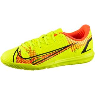 Nike JR Mercurial VAPOR 14 ACADEMY IC Fußballschuhe Kinder volt-brt crimson-black