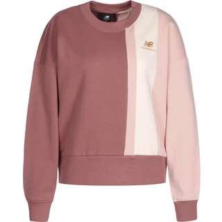 NEW BALANCE Athletics Higher Learning Sweatshirt Damen weinrot/weiß/pink