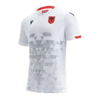 macron Albanien Authentic Trikot Away 2020/2021 Trikot weissschwarz