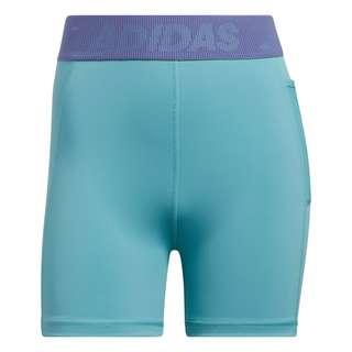 adidas Techfit Badge of Sport kurze Tight Funktionsshorts Damen Mint Ton / White