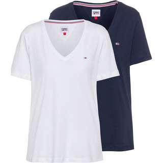 Tommy Hilfiger Shirt Doppelpack Damen white-twilight navy