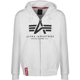 Alpha Industries Basic Zip Hoodie Herren weiß