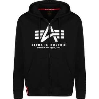 Alpha Industries Basic Zip Hoodie Herren schwarz