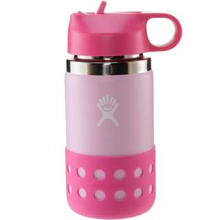 Hydro Flask 12 OZ KIDS WIDE MOUTH STRAW LID & BOOT Isolierflasche Kinder plumeria