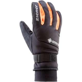 Ziener GORE-TEX 198 GTX Fahrradhandschuhe black-poison orange