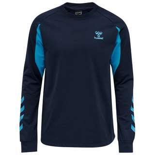 hummel hmlACTION COTTON SWEATSHIRT Sweatshirt BLACK IRIS/ATOMIC BLUE