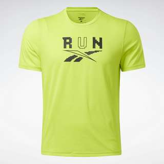 Reebok Running Speedwick Graphic T-Shirt Laufshirt Herren Gelb