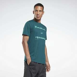 Reebok Tech Style 60/40 Graphic T-Shirt Funktionsshirt Herren Grün