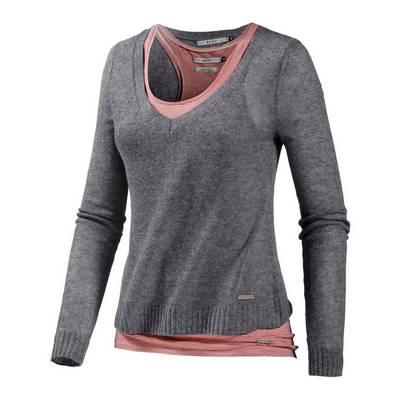 Roxy Sydney 2-In-1 Pullover Damen grau/bordeaux