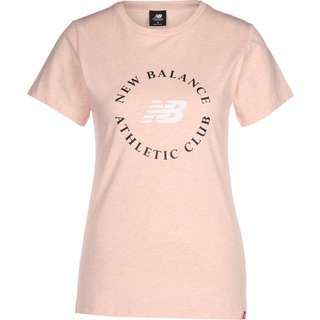 NEW BALANCE Essentials Athletic Club Graphic T-Shirt Damen pink/meliert