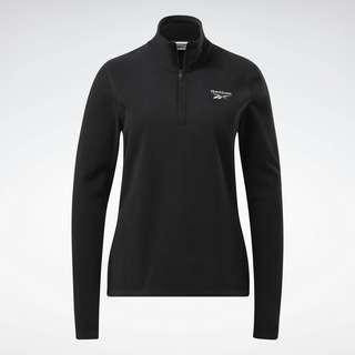 Reebok Outerwear Fleece Quarter-Zip Jacket Sweatshirt Damen Schwarz