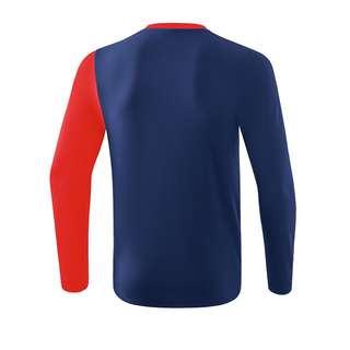 Erima 5-C Longsleeve Funktionssweatshirt Herren BlauRotWeiss
