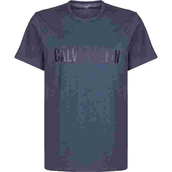 Calvin Klein Crew Neck T-Shirt Herren blau/meliert