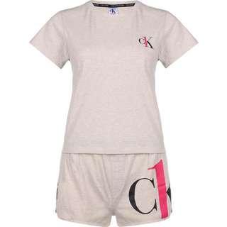 Calvin Klein Short Set Pyjama Damen beige