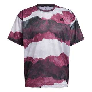 adidas Earth Graphic Yoga T-Shirt Funktionsshirt Herren Black / Victory Crimson