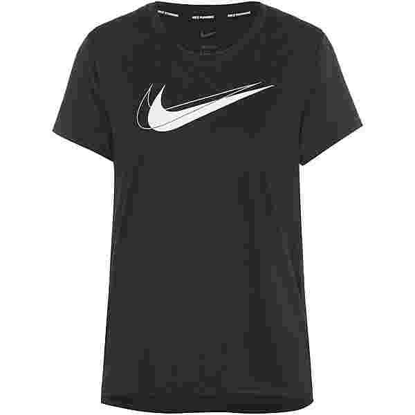 Nike Dri-FIT Swoosh Run Funktionsshirt Damen black-reflective silv