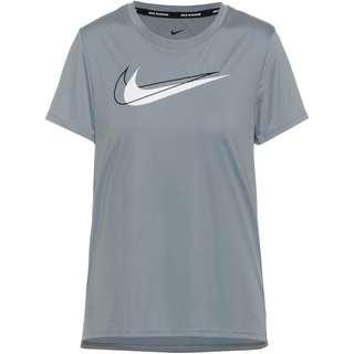 Nike Dri-FIT Swoosh Run Funktionsshirt Damen particle grey-reflective silv