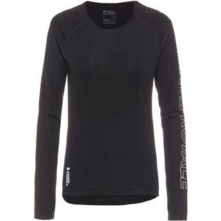 Mons Royale Merino Bella Tech LS Layerlangarmshirt Damen black