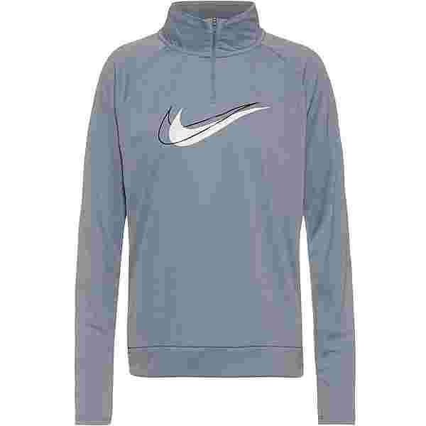Nike Dri-FIT Swoosh Run Funktionsshirt Damen particle grey-white