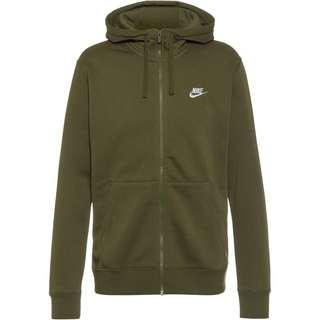 Nike NSW CLUB Sweatjacke Herren rough green-rough green-white