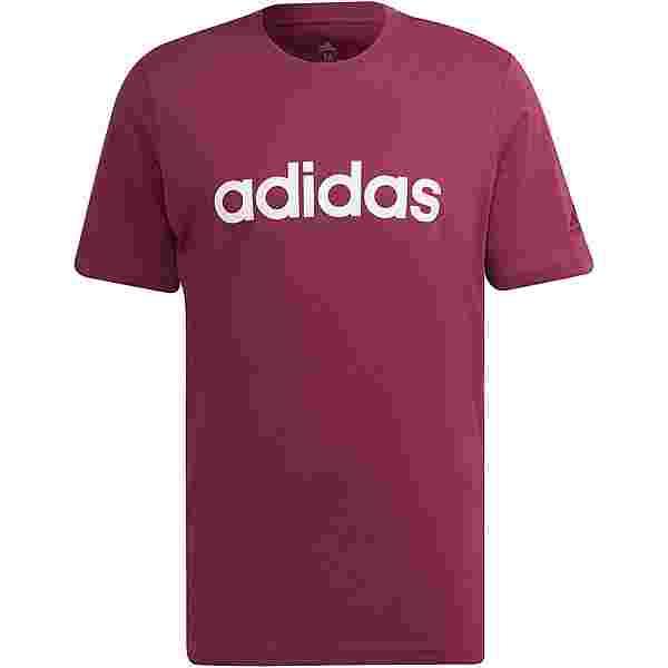 adidas Linear Sport Essentials T-Shirt Herren victory crimson-white