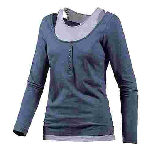 WLD Under the cherrymoon Layerlangarmshirt Damen blau