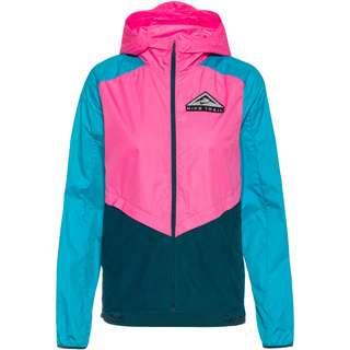 Nike Shield Laufjacke Damen pink glow-turquoise blue-black