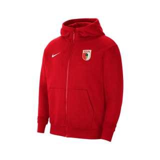 Nike FC Augsburg Fleece Kapuzenjacke Kids Trainingsjacke Kinder rot