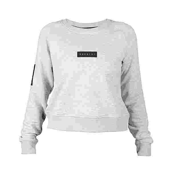 MOROTAI Large Bloc Logo Sweatshirt Longsweat Damen Hellgrau