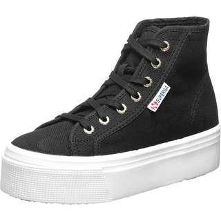 Superga 2705 Hi Top Sneaker Damen schwarz