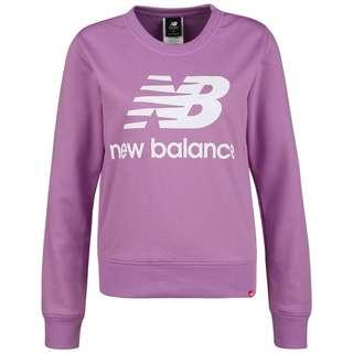 NEW BALANCE Essentials Crew Sweatshirt Damen lila / weiß