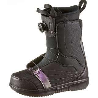 Salomon PEARL BOA Snowboard Boots Damen black-black-royal lilac